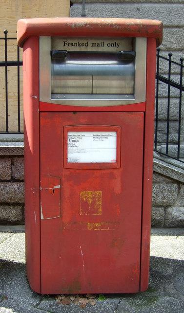 Elizabeth II postbox outside Post Office, Falmouth