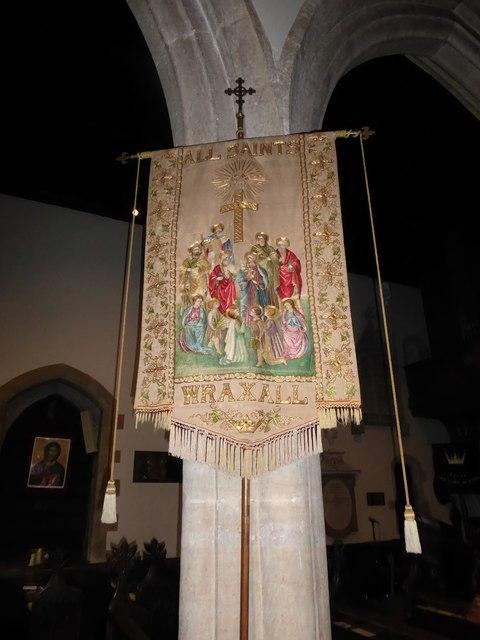All Saints, Wraxall: banner (b)