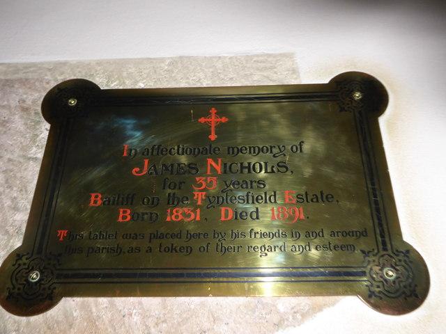 All Saints, Wraxall: memorial (b)