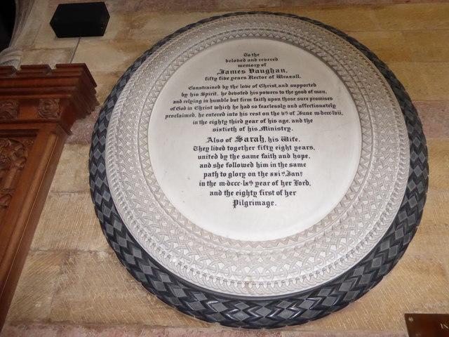 All Saints, Wraxall: memorial (c)