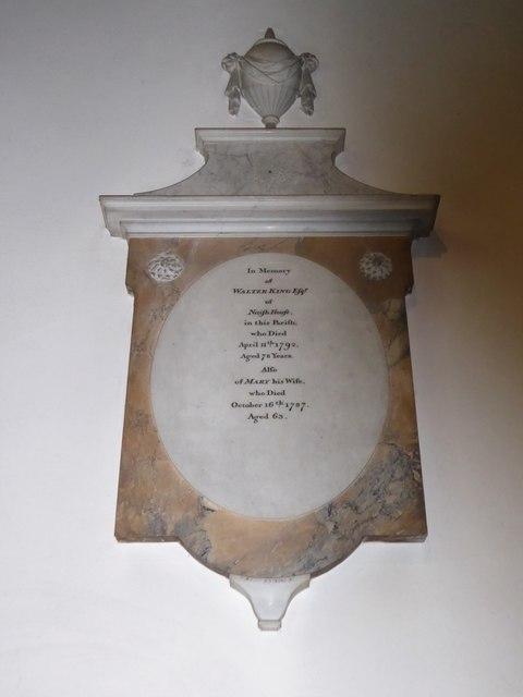 All Saints, Wraxall: memorial (g)