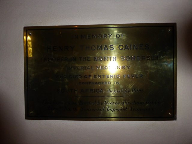 All Saints, Wraxall: memorial (k)