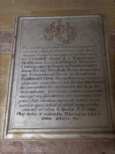 All Saints, Wraxall: memorial (q)
