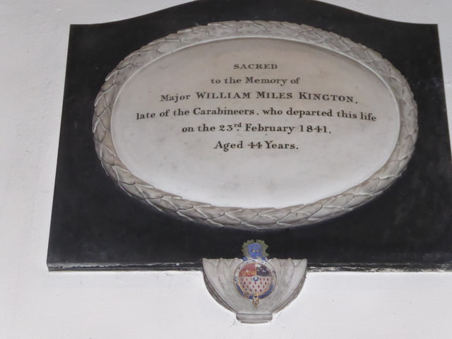 All Saints, Wraxall: memorial (y)