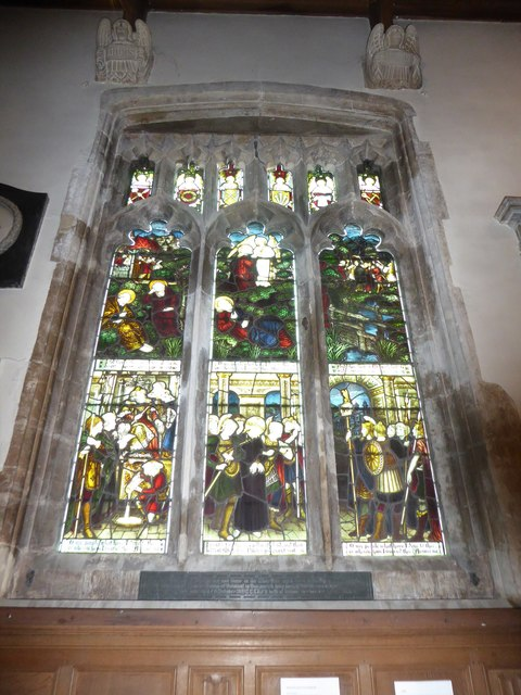 All Saints, Wraxall: stained glass window (a)