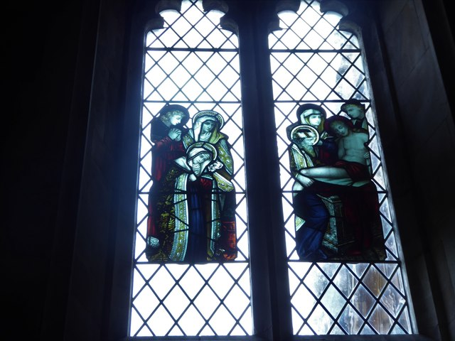 All Saints, Wraxall: stained glass window (c)