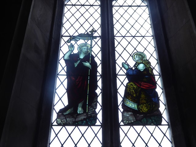 All Saints, Wraxall: stained glass window (d)