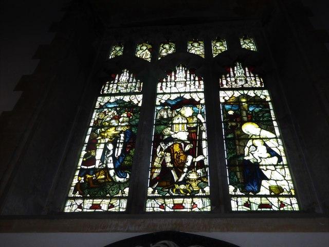 All Saints, Wraxall: stained glass window (e)