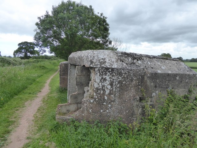 Remains of a pillbox by the canal