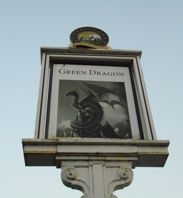 Pub sign, Green Dragon