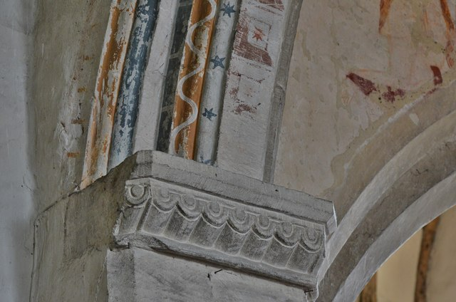 Purton, St. Mary's Church: Capital detail 1