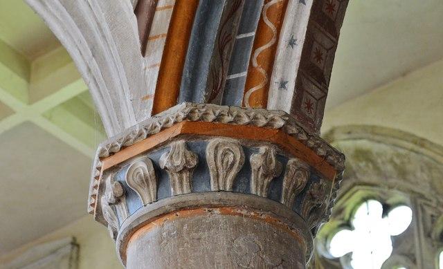 Purton, St. Mary's Church: Capital detail 3