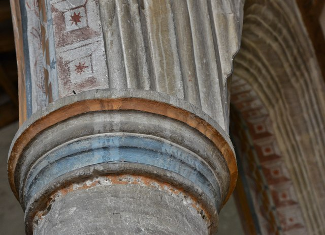 Purton, St. Mary's Church: Capital detail 4