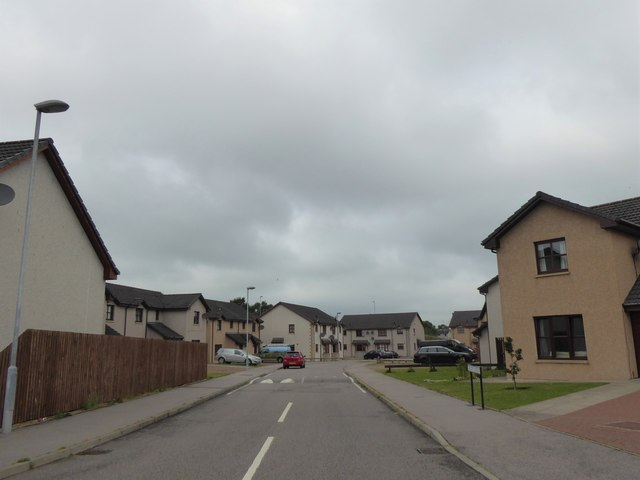 Entrance to Calcots Crescent, Elgin