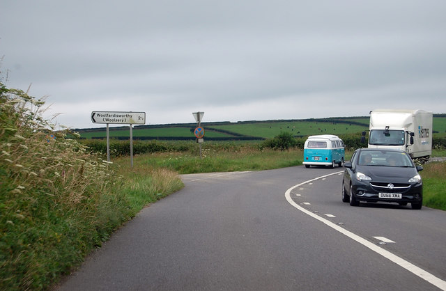 A39 junction to Woolfardisworthy