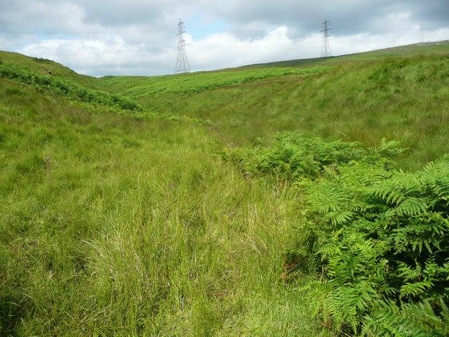 Stream capture, Light Hazzles Clough, Chelburn Moor