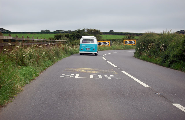 Bend in the A39