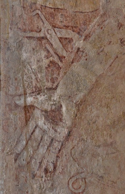 Purton, St. Mary's Church: Rare medieval Christ of the Trades wall painting 2