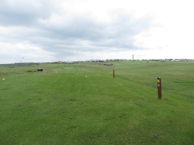 Tee area, Flamborough Head Golf Course
