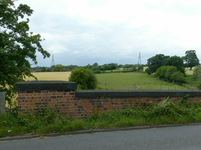 Looking west from Station Road bridge, Stanley