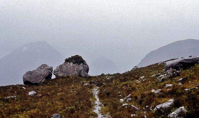 The rough path up Glen Grudie
