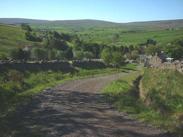 Track above Cowshill