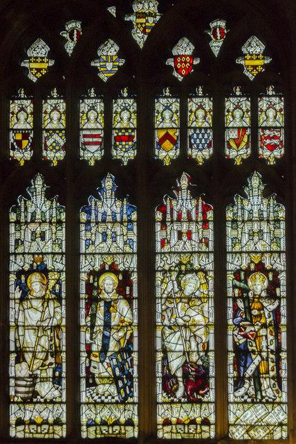 Stained glass window, St Mary's church, Warwick