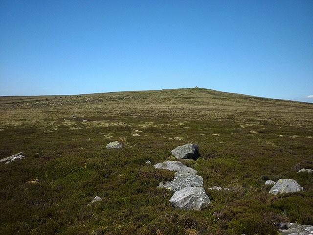 Gritstone boulders, Killhope Law