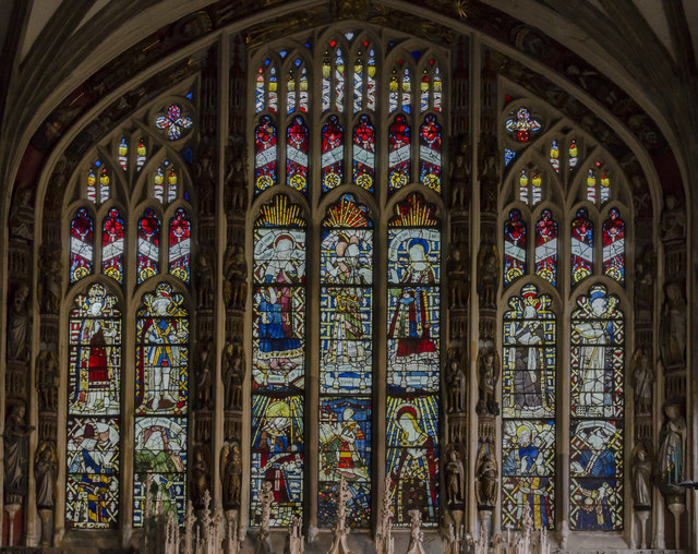 East window, Beauchamp Chapel, St Mary's church, Warwick