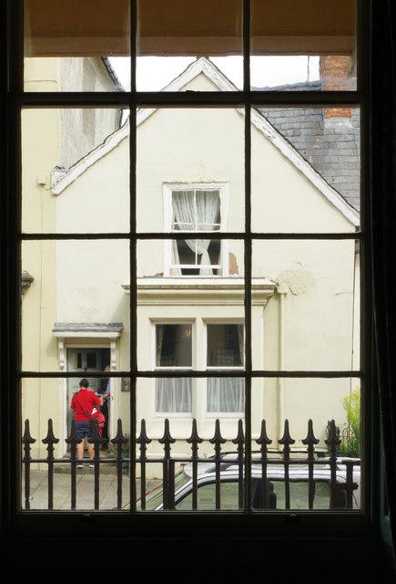 Delivering the mail - Broad Street, Presteigne
