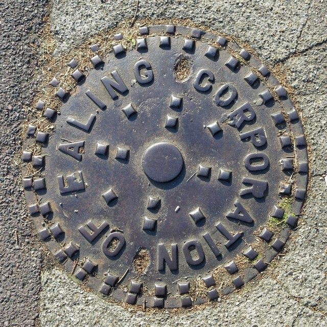 Metal hole cover, Western Avenue, W5