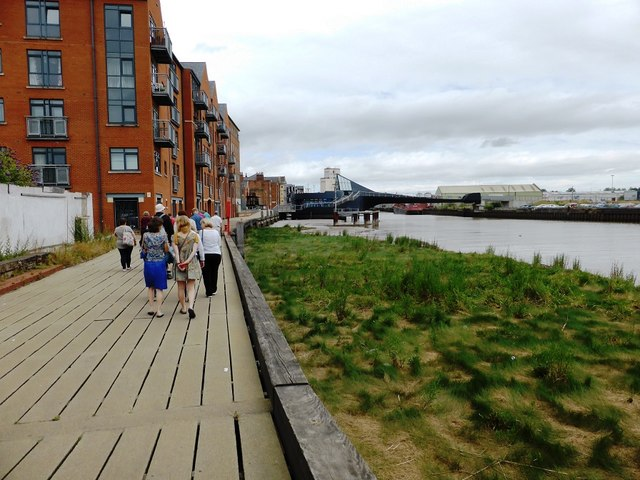 Board walkway next to the River Hull