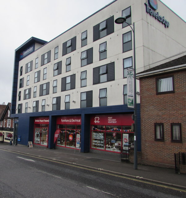 Travelodge and a charity shop, Eastleigh