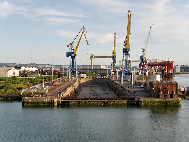 Harland and Wolff Dry Dock, Queen's Island. Belfast
