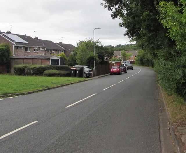 Road through the eastern edge of Pilton Vale, Malpas, Newport