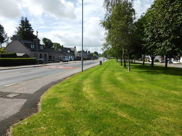 The A75 in Springholm, from Cameronian Place