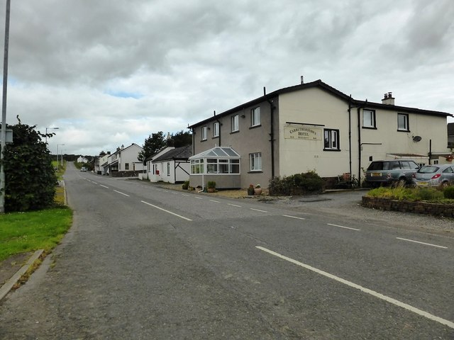 The road through Carrutherstown