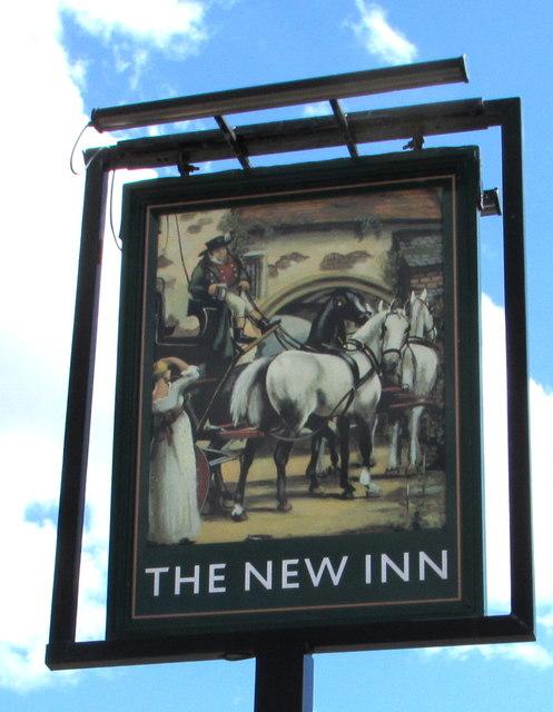 The New Inn name sign, Westerleigh