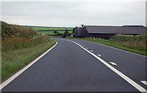 SS2514 : A39 passing Highborough Farm by J.Hannan-Briggs