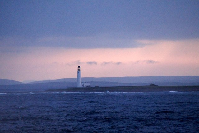 Auskerry lighthouse from the east