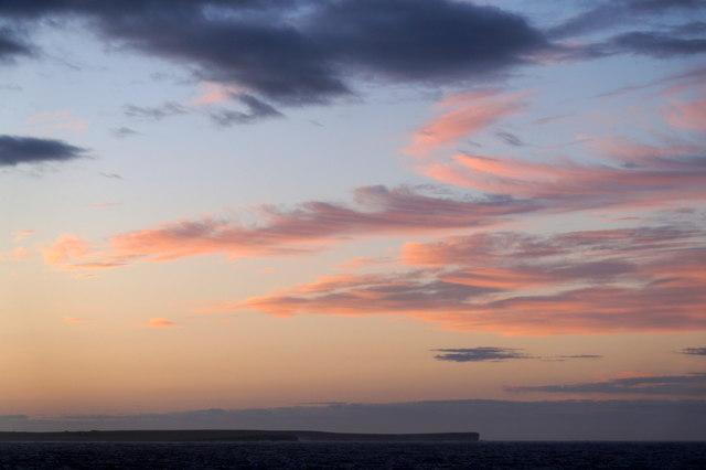 Sunset beyond Odin Ness, Stronsay