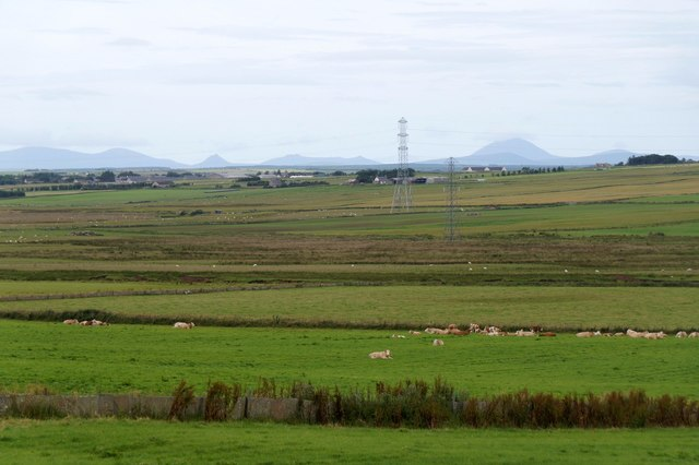 Fields beside the River Thurso south of Carsgoe