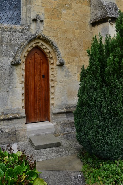 Bishops Cleeve, St. Michael and All Angels Church: Norman south doorway