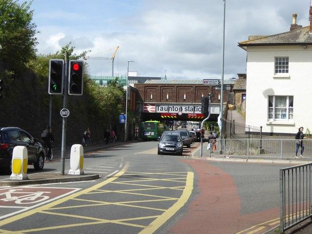 Station Road, Taunton and the station bridge