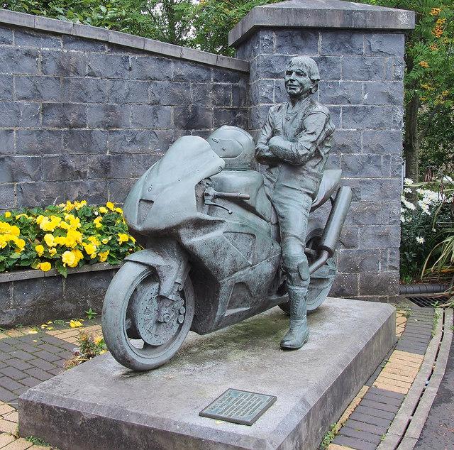 Joey Dunlop statue, Ballymoney