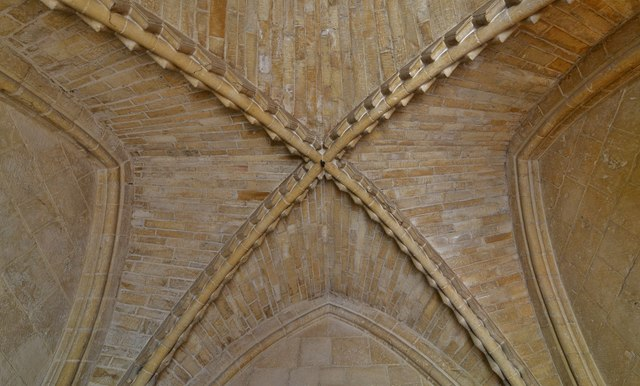 Bishops Cleeve, St. Michael and All Angels Church: Norman south porch ceiling