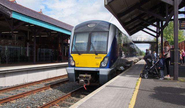 Train, Ballymoney Railway Station