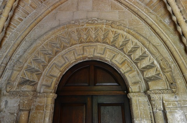 Bishops Cleeve, St. Michael and All Angels Church: The Norman south doorway