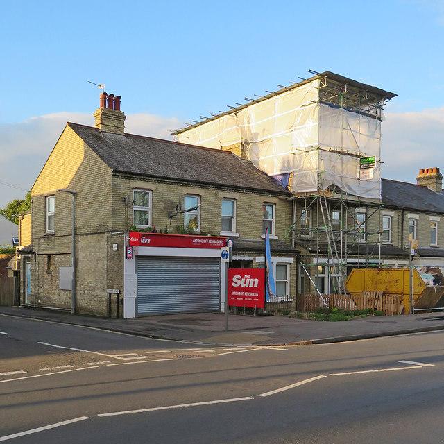 Building work on Cherry Hinton Road
