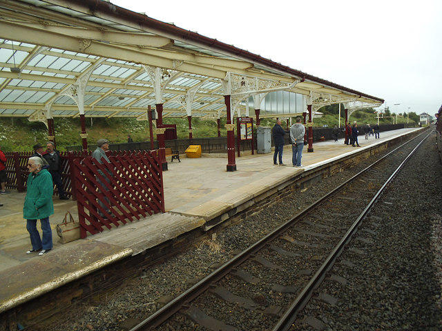 Hellifield station, down platform